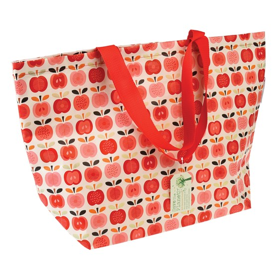 large vintage apple shopping bag