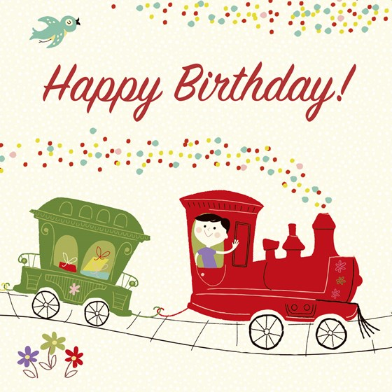 party train birthday card