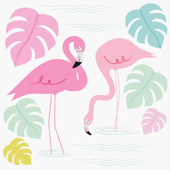 flamingo bay card