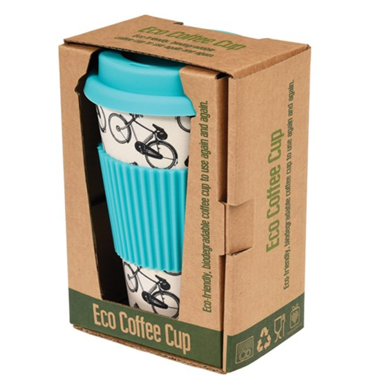 BICYCLE RIDER'S BAMBOO TRAVEL MUG