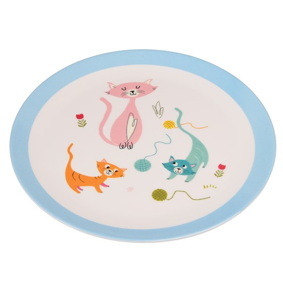 CATS LIFE MELAMINE PLATE