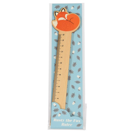 rusty the fox wooden ruler