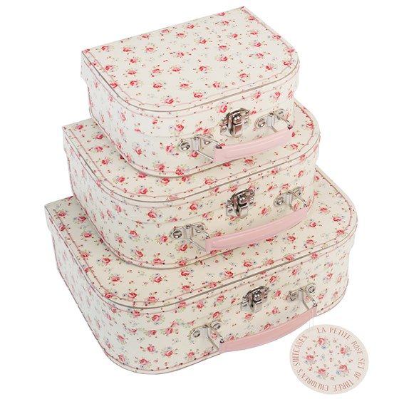 set of 3 la petite rose mini cases
