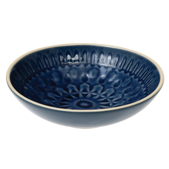 dark blue marrakesh dish