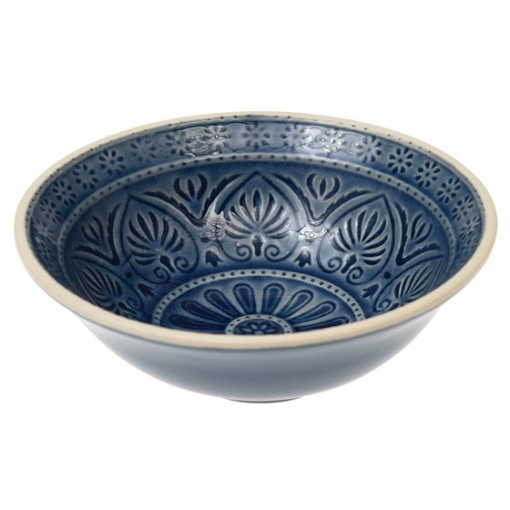 marrakesh mezze dish dark blue