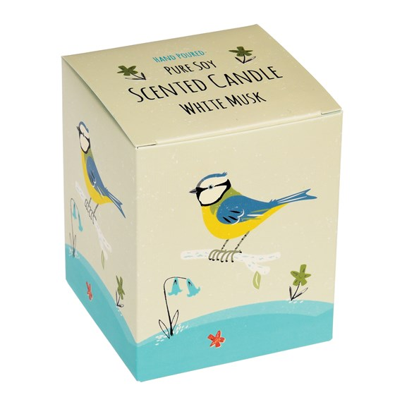 blue tit boxed scented soy candle