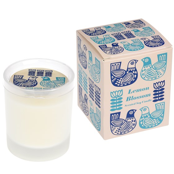 FOLK BIRDS BOXED SCENTED SOY CANDLE
