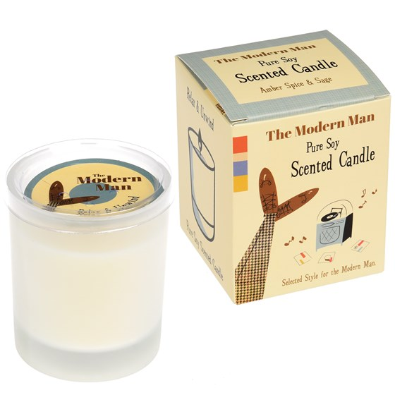 modern man boxed scented soy candle