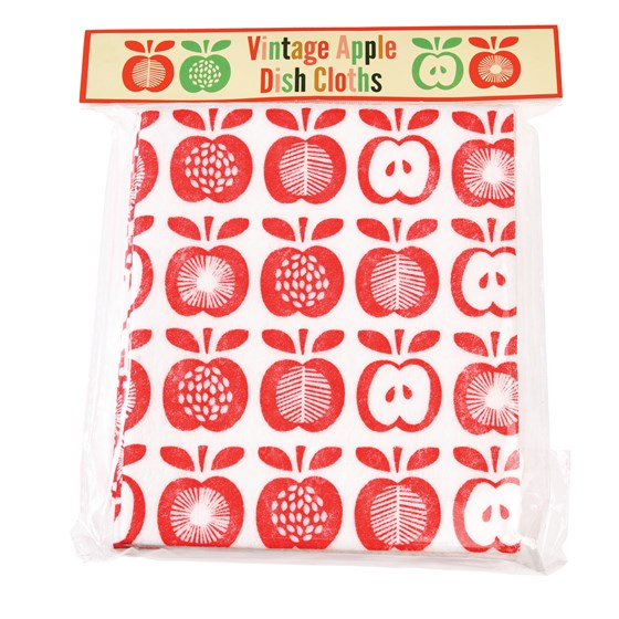 pack of 4 vintage apple kitchen cloths