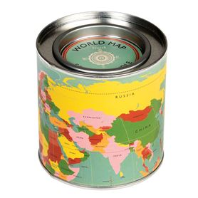 world map scented candle
