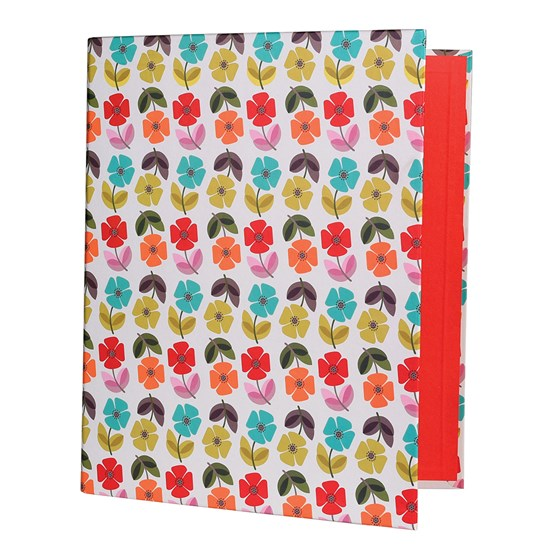 mid century poppy ring binder