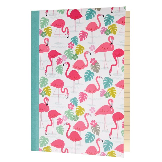 "notizbuch a5 ""flamingo bay"""