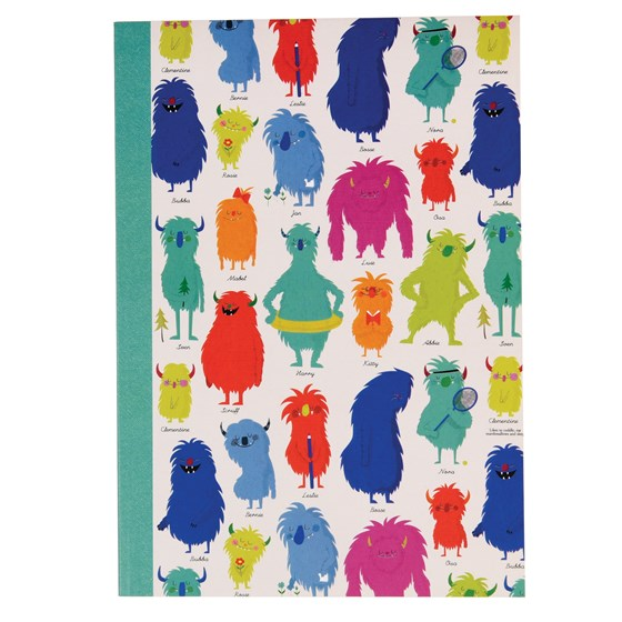 monsters of the world a5 notebook