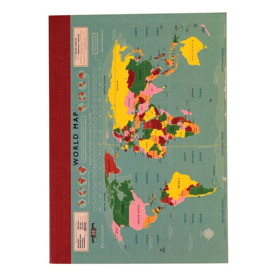 WORLD MAP A6 NOTEBOOK