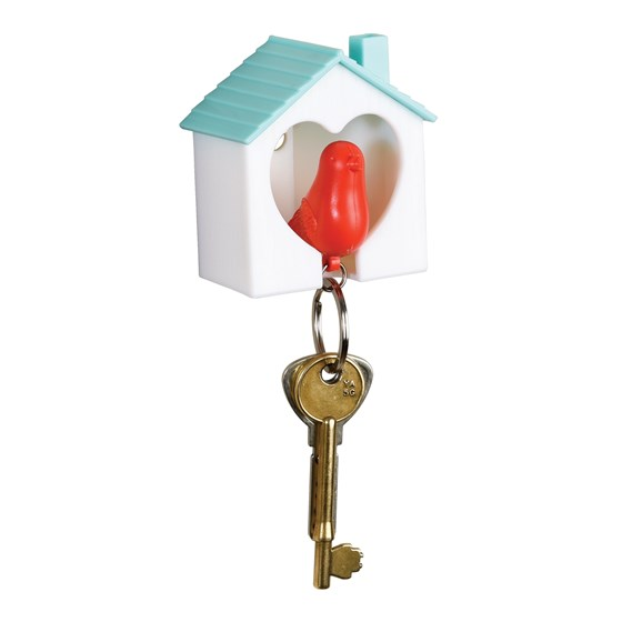 bird whistle keyring and holder