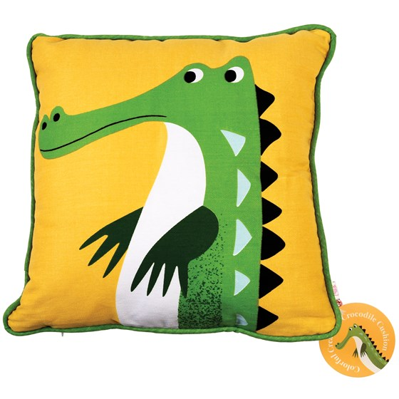 HARRY THE CROCODILE CUSHION WITH PAD
