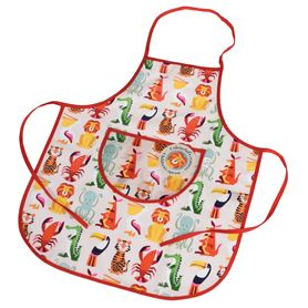 colourful creatures children's apron