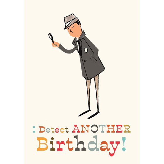 detective birthday card
