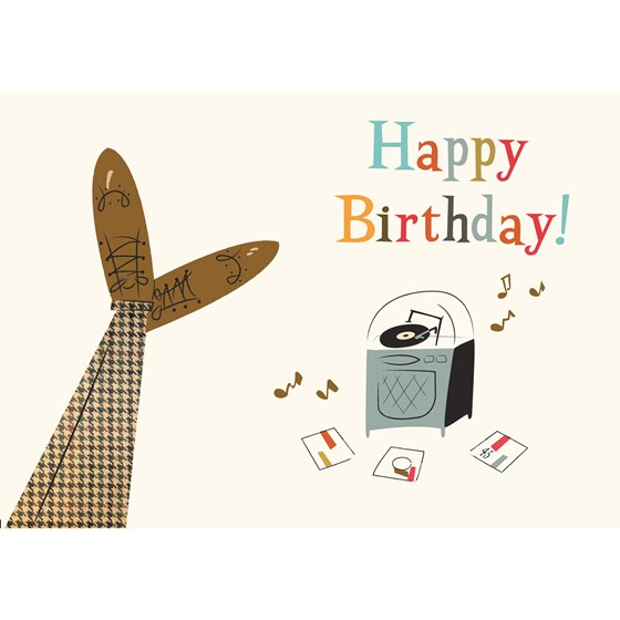 modern man birthday card
