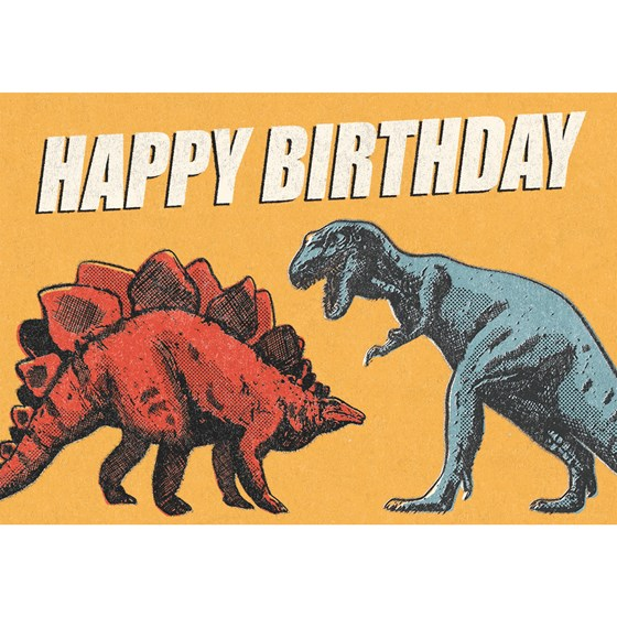 prehistoric land dinosaur birthday card