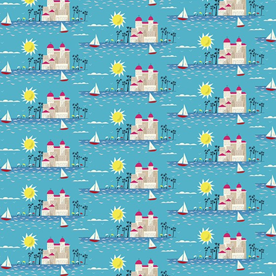 riviera dream wrapping paper