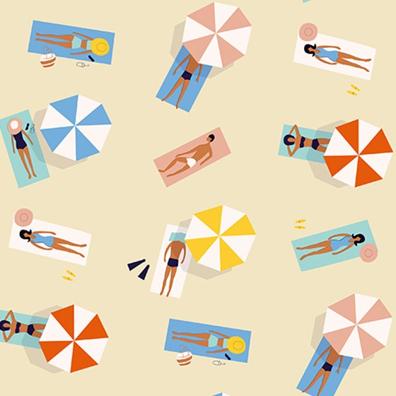 SUNBATHERS WRAPPING PAPER