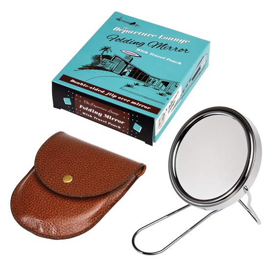 departure lounge travel shaving mirror