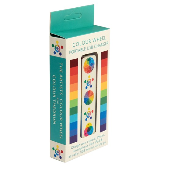 COLOUR WHEEL USB PORTABLE CHARGER