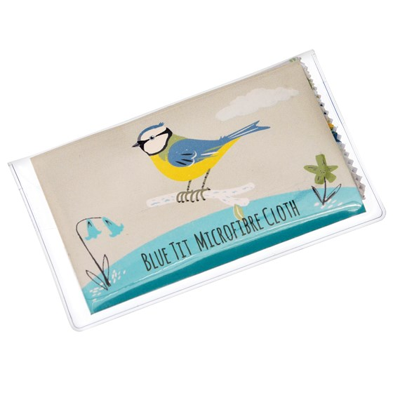 BLUE TIT GLASSES CLEANING CLOTH