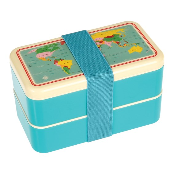WORLD MAP ADULT BENTO BOX