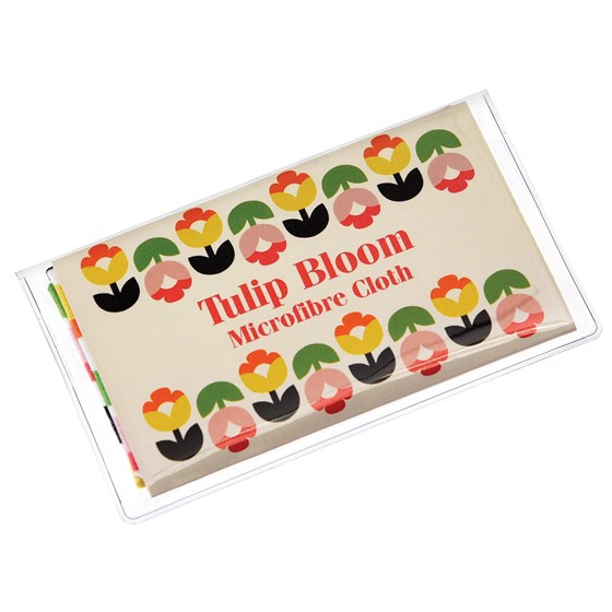 TULIP BLOOM GLASSES CLEANING CLOTH