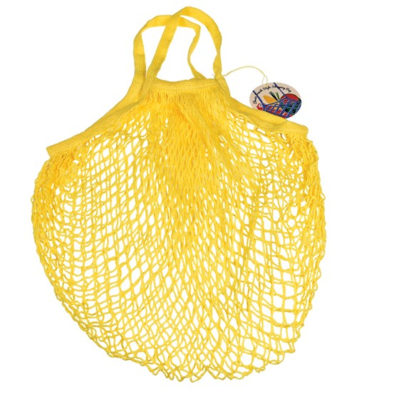 yellow french style string shopping bag