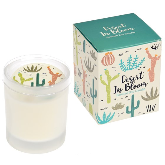 desert in bloom boxed scented soy candle