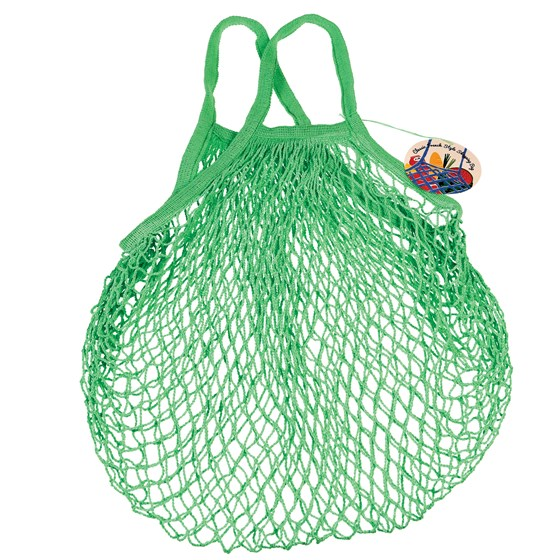 green french style string shopping bag