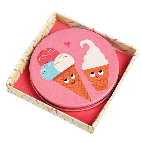 "miroir de poche ""ice cream friends"""