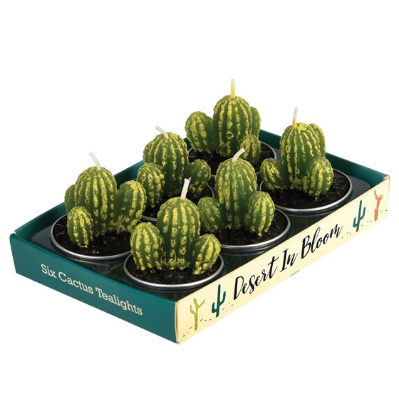 CACTUS TEA LIGHTS (SET OF 6)