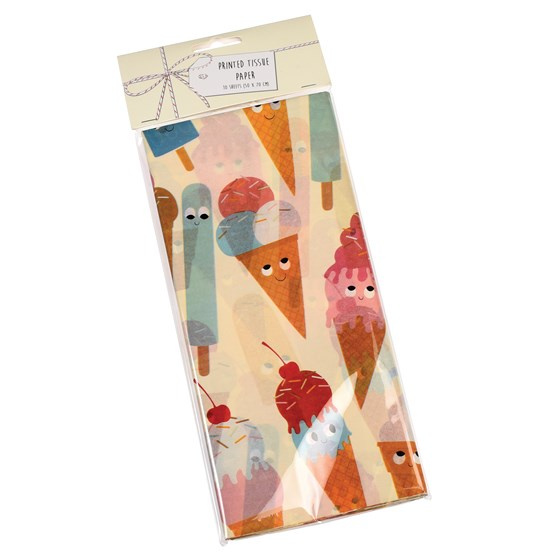 ice cream friends tissue paper (10 sheets)
