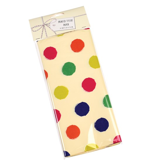 SPOTTY CELEBRATION TISSUE PAPER (10 SHEETS)