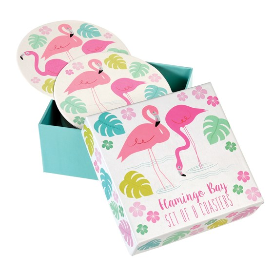 SET OF 8 FLAMINGO BAY COASTERS