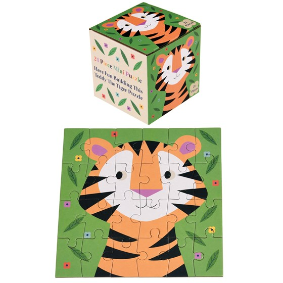 "24teiliges mini-puzzle ""teddy the tiger"""