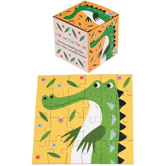 "24teiliges mini-puzzle ""harry the crocodile"""