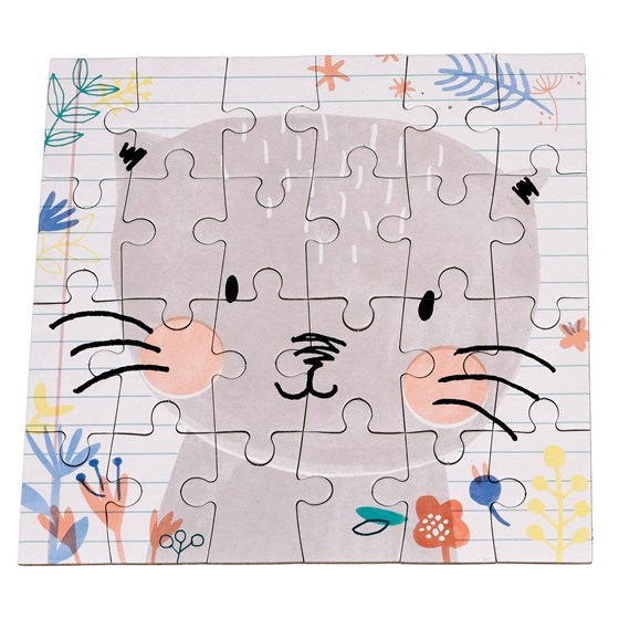 "mini puzzle 24 pièces ""lilly the cat"""