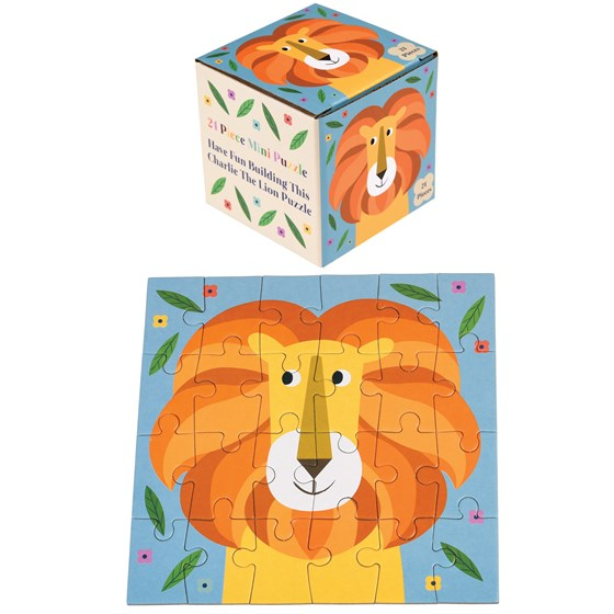 "24teiliges mini-puzzle ""charlie the lion"""