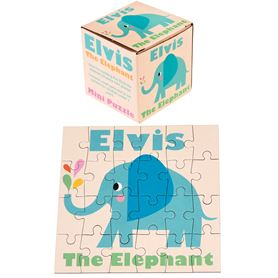 "mini puzzle 24 pièces ""elvis the elephant"""