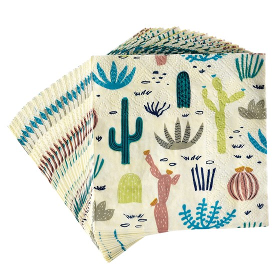 DESERT IN BLOOM COCKTAIL NAPKINS (PACK OF 20)