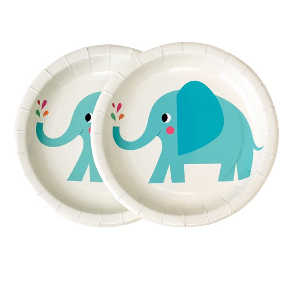 elvis the elephant paper plates (pack of 8)
