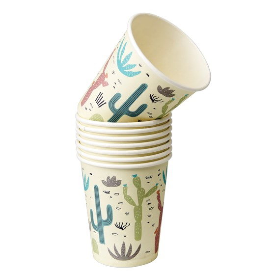 DESERT IN BLOOM PAPER CUPS (SET OF 8)