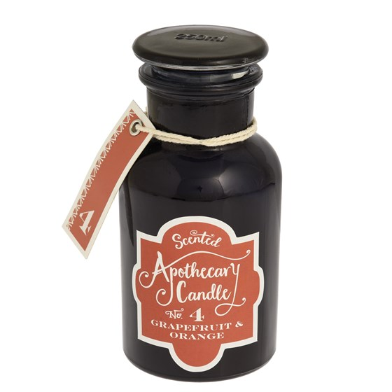 grapefruit and orange apothecary candle