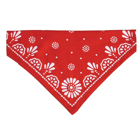 large red paisley dog bandana
