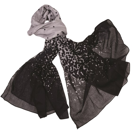 CHARCOAL SEA MIST COTTON SCARF